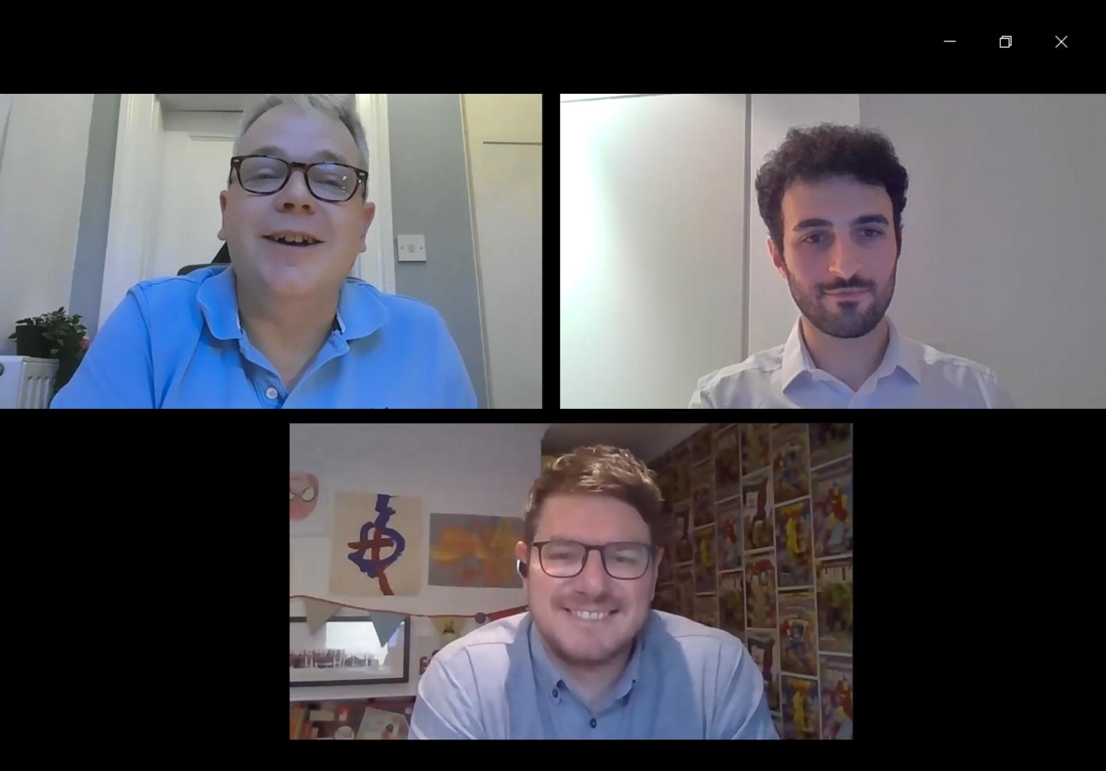 Checkmate CEO John Lewthwaite, FluidIT Consultant Waleed Shihadah and FluidIT Director Jonty Abbott